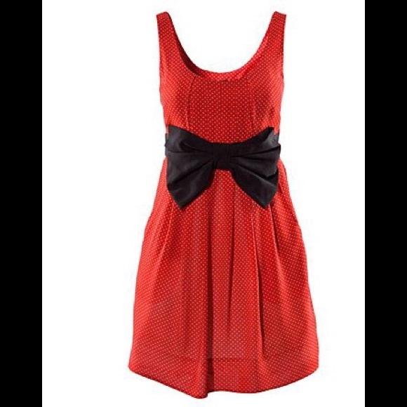 d2a1b2b76e5ca H&M Dresses   Hm Red Whitepolka Dot Minnie Mouse Dress   Poshmark